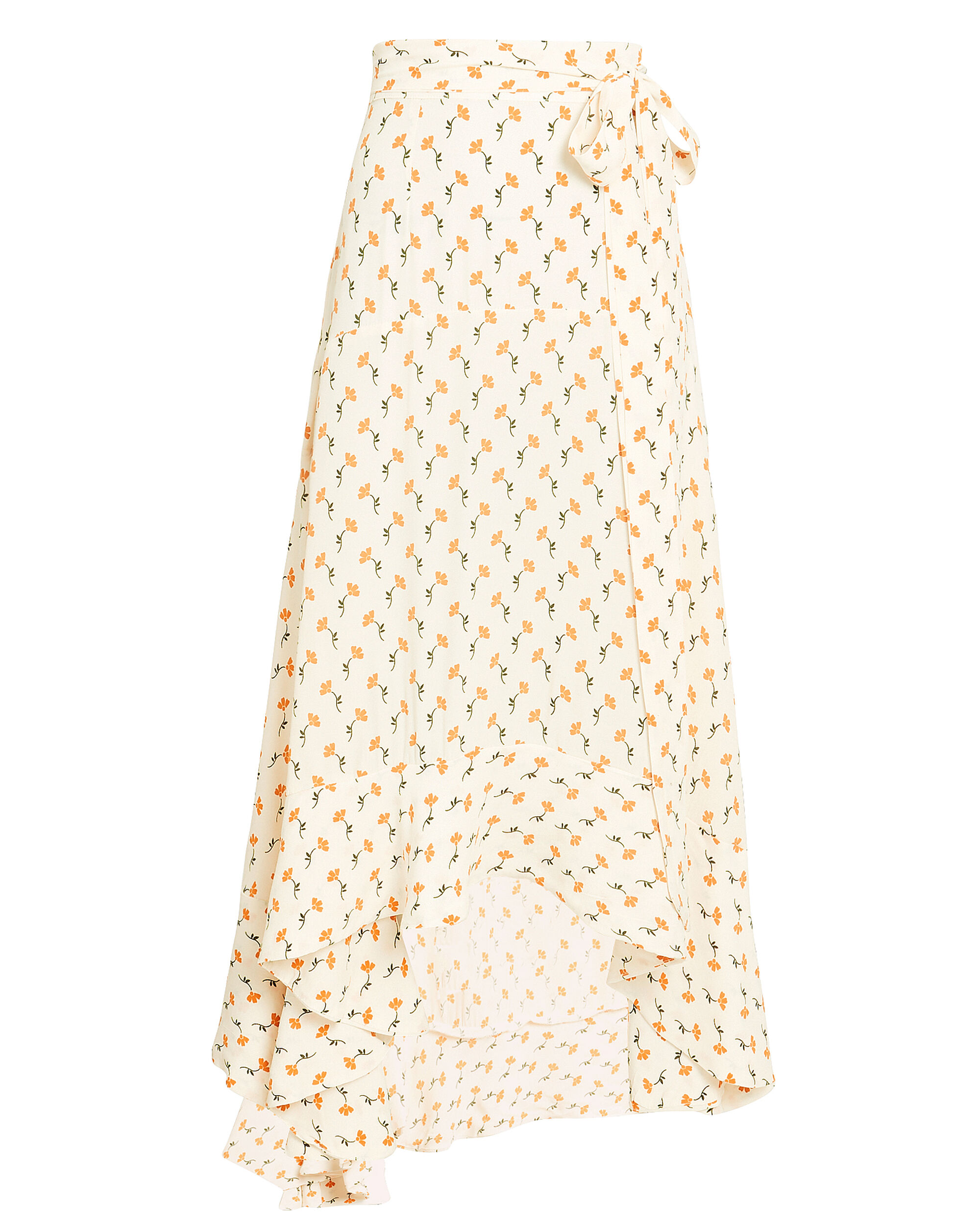 Kamares Midi Skirt, IVORY/YELLOW FLORAL, hi-res