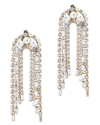 Gelo Pearl And Crystal Earrings, GOLD, hi-res