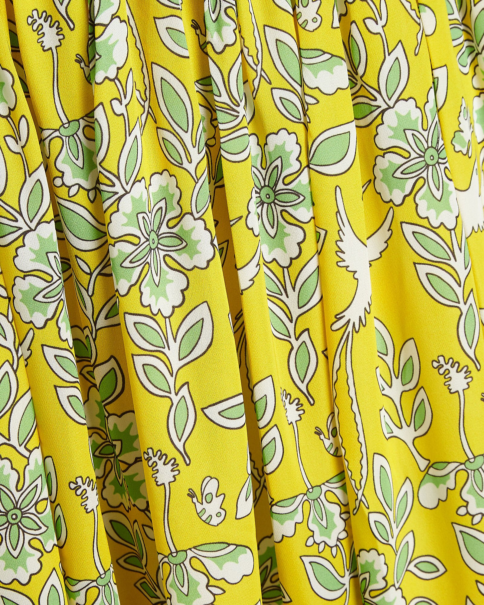 Florence Floral Off-the-Shoulder Dress, YELLOW, hi-res