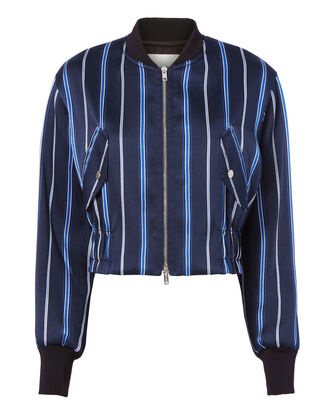 Striped Bomber Jacket, , hi-res