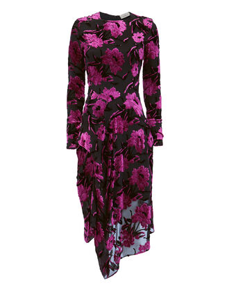 Alyssa Lurex Midi Dress, PRINT, hi-res