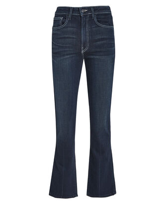 Rinse Cropped Kick Flare Jeans, DARK WASH DENIM, hi-res