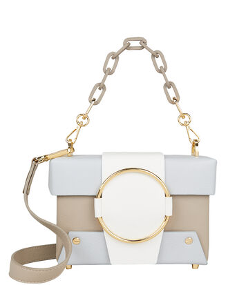 Asher Box Chain Strap Bag, WHITE/BEIGE/BLUE, hi-res