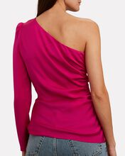 Ramona Silk One-Shoulder Top, PINK-DRK, hi-res