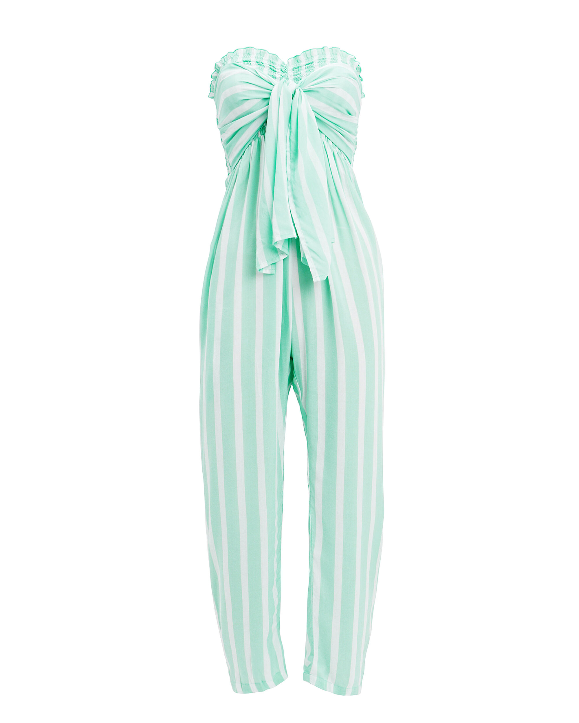 Edith Stripe Jumpsuit, AQUA/WHITE STRIPE, hi-res