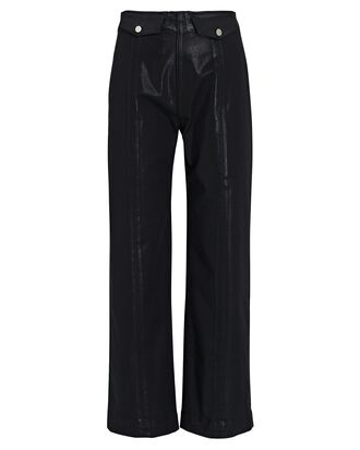 Brinley Coated High-Rise Jeans, BLACK, hi-res