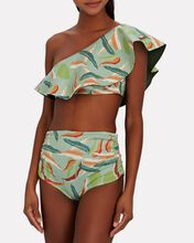Sunset Waves Reversible Bikini Top, SEAFORM GREEN/OLIVE, hi-res