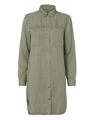 Bowie Studded Dress, OLIVE/ARMY, hi-res