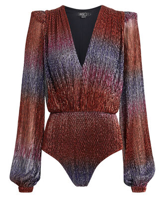 Rainbow Lurex Bodysuit, RAINBOW, hi-res