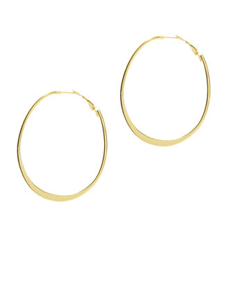 Wavy Hoop Earrings, GOLD, hi-res