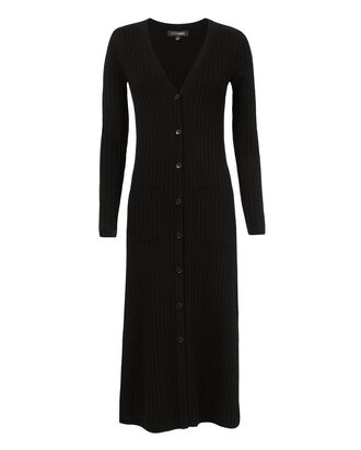 Roland Black Duster Cardigan, BLACK, hi-res