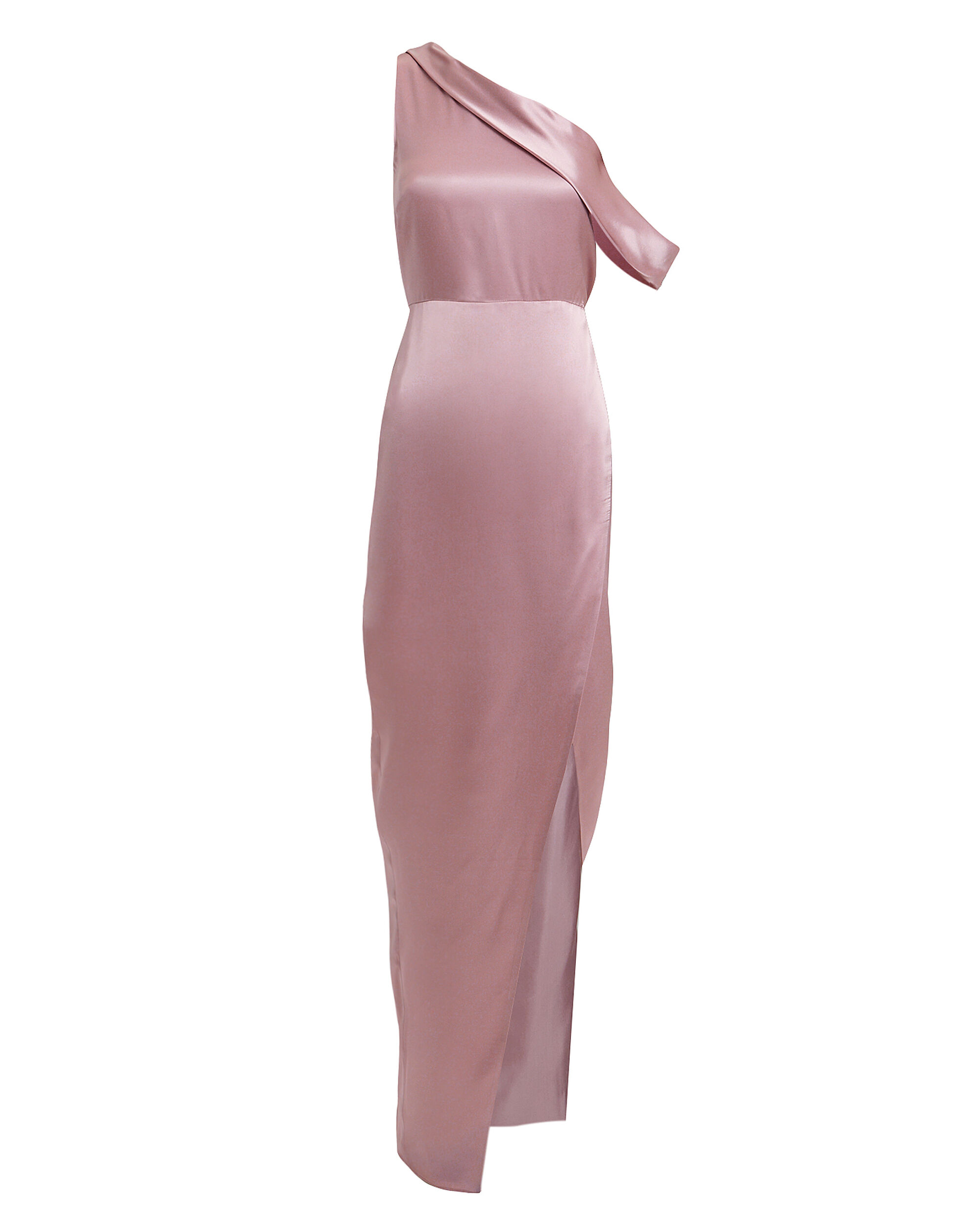 Draped One Shoulder Lilac Gown, LILAC, hi-res