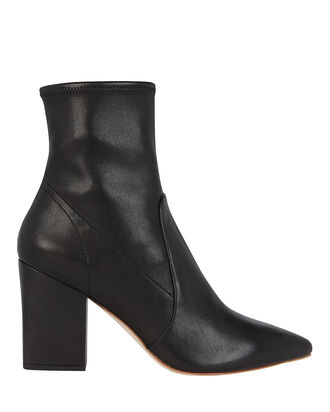 Isla Leather Booties, BLACK, hi-res