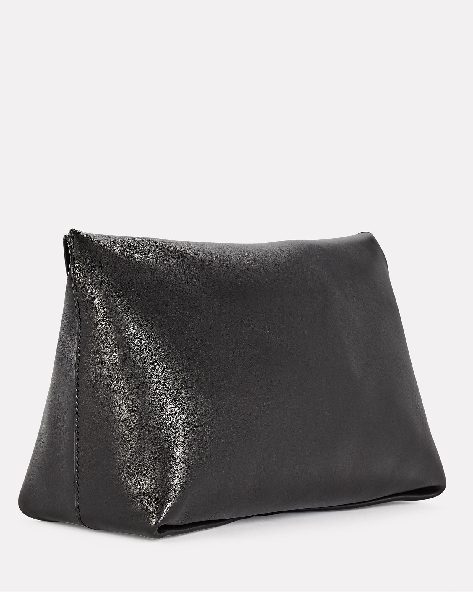 Skull Four Ring Leather Pouch, BLACK, hi-res