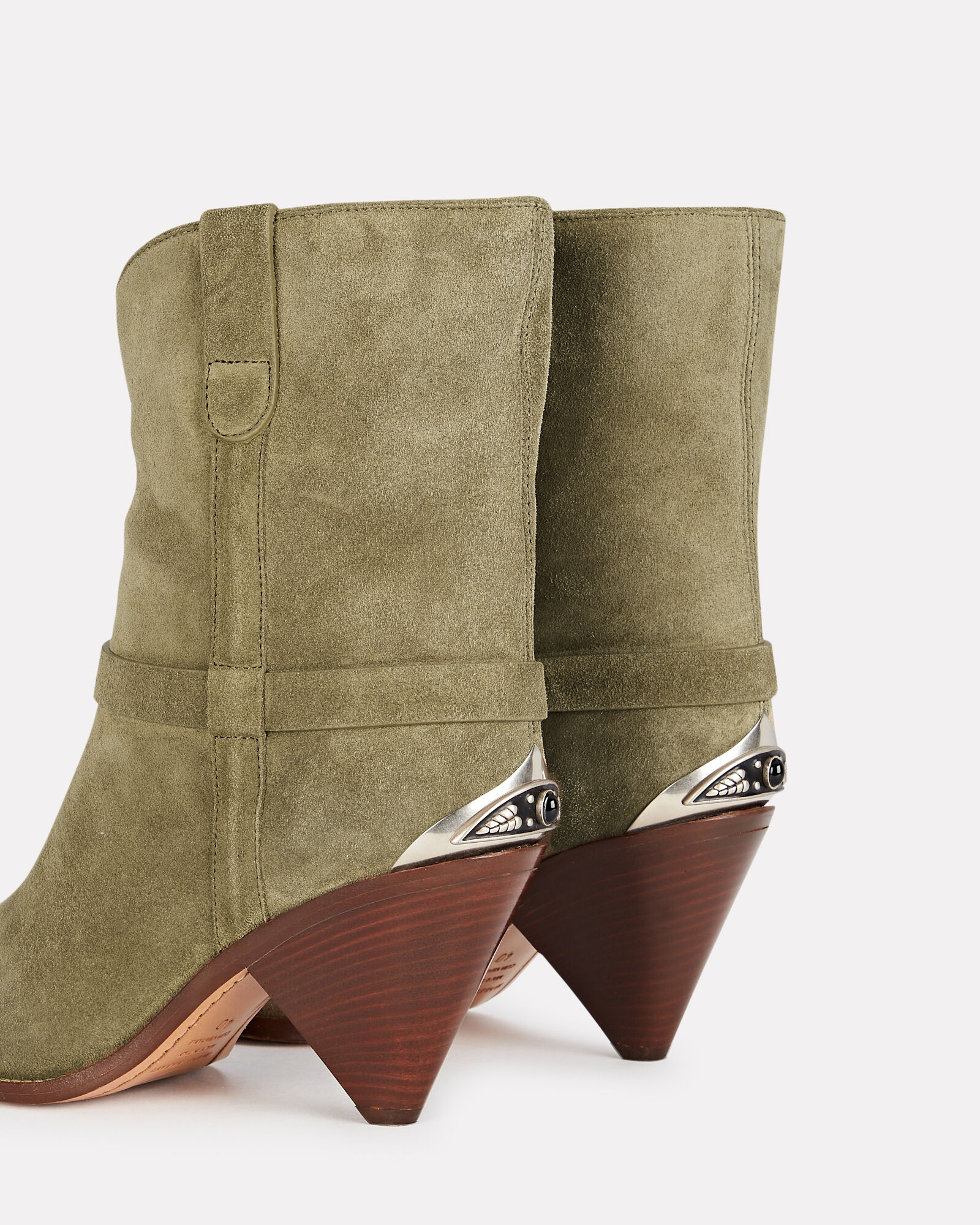 Limza Suede Ankle Boots, OLIVE/ARMY, hi-res