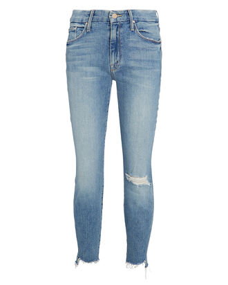 The Looker Ankle Fray Skinny Jeans, LIGHT WASH DENIM, hi-res