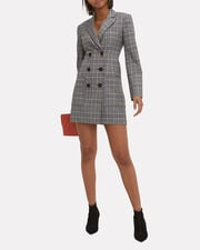 Lucas Double-Breasted Blazer Dress, BLUE/GREY, hi-res