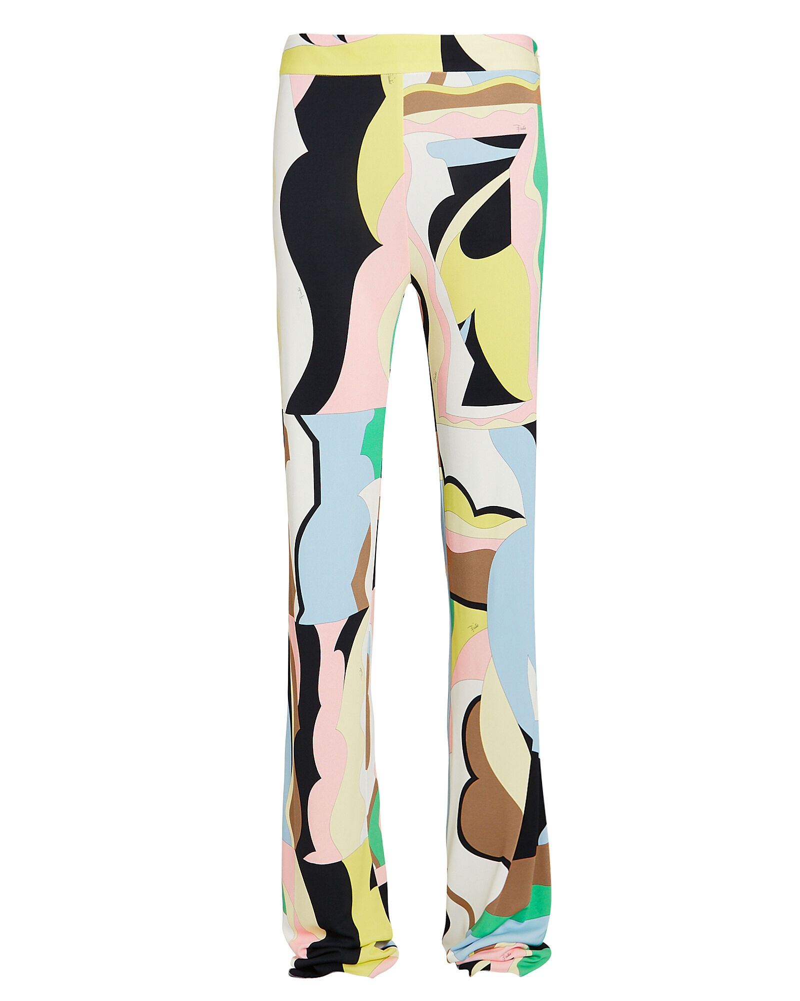 Vallauris Print Flared Trousers, MULTI, hi-res