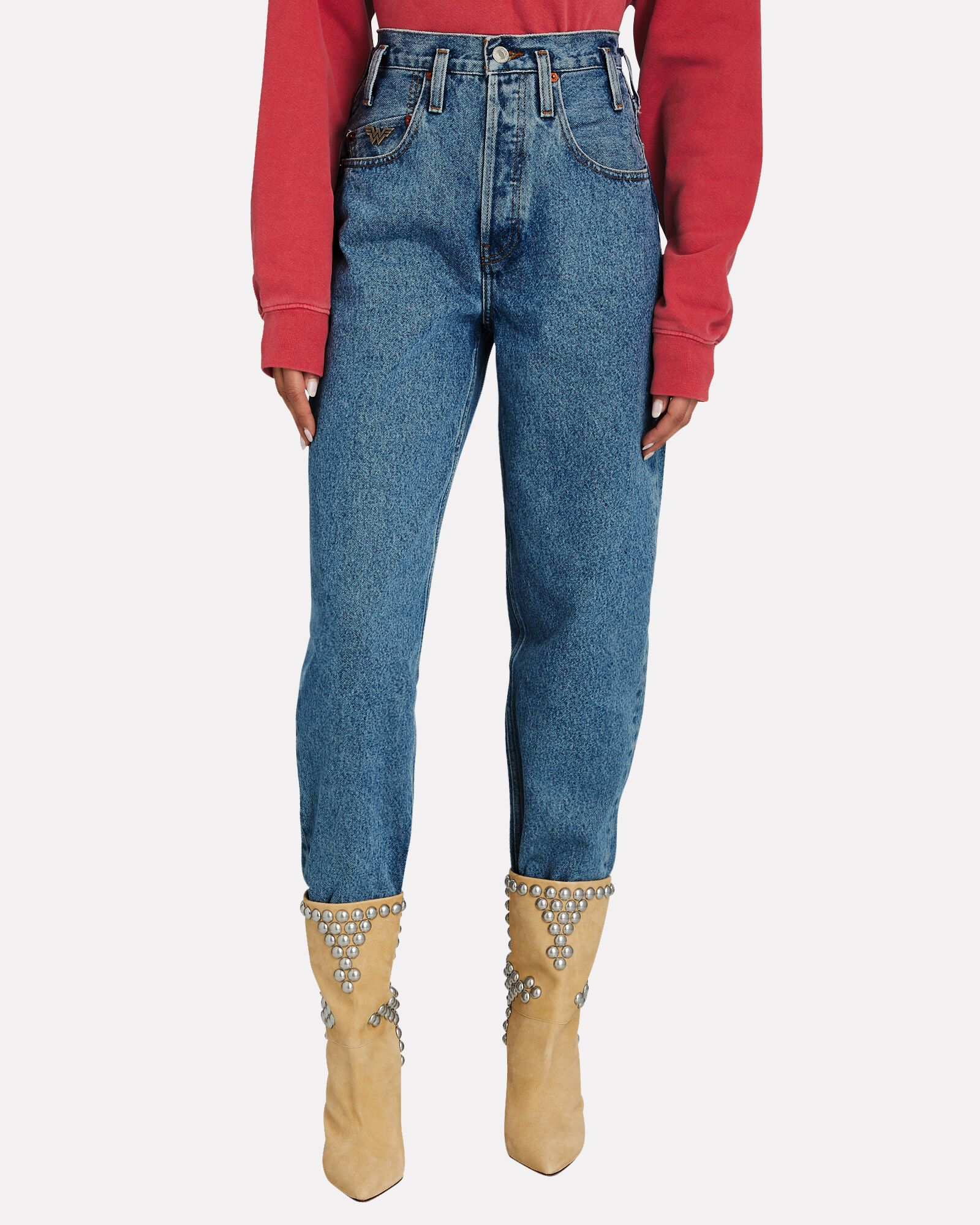 80s Peg Leg Jeans, DENIM, hi-res