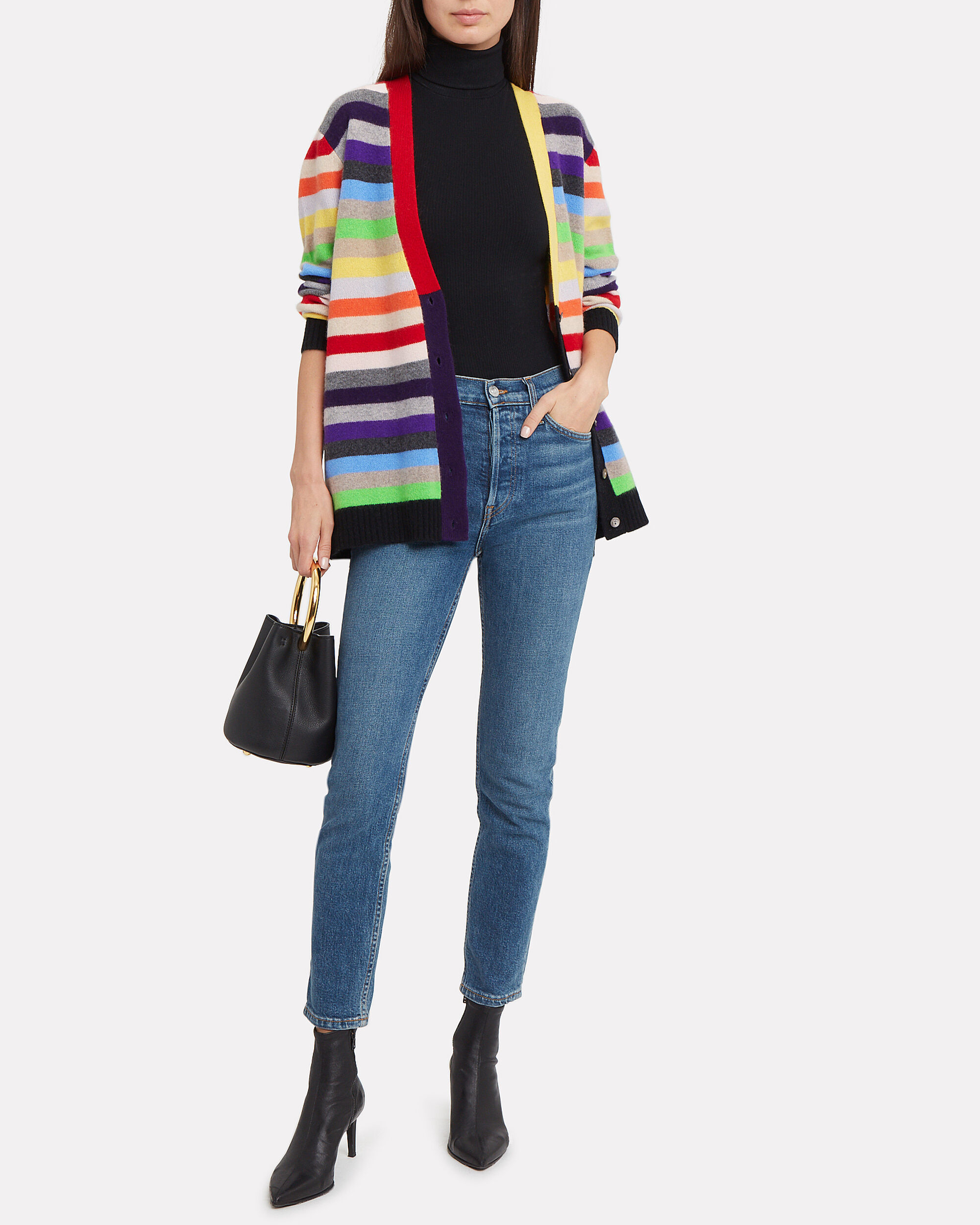 Rimini Striped Cardigan, RAINBOW STRIPES, hi-res