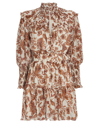 Abbey Floral Paisley Mini Dress, MULTI, hi-res