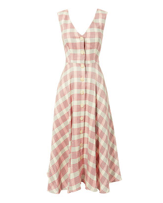 Finn Plaid Dress, RED, hi-res