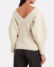 Olla Puff Sleeve Sweater, IVORY, hi-res