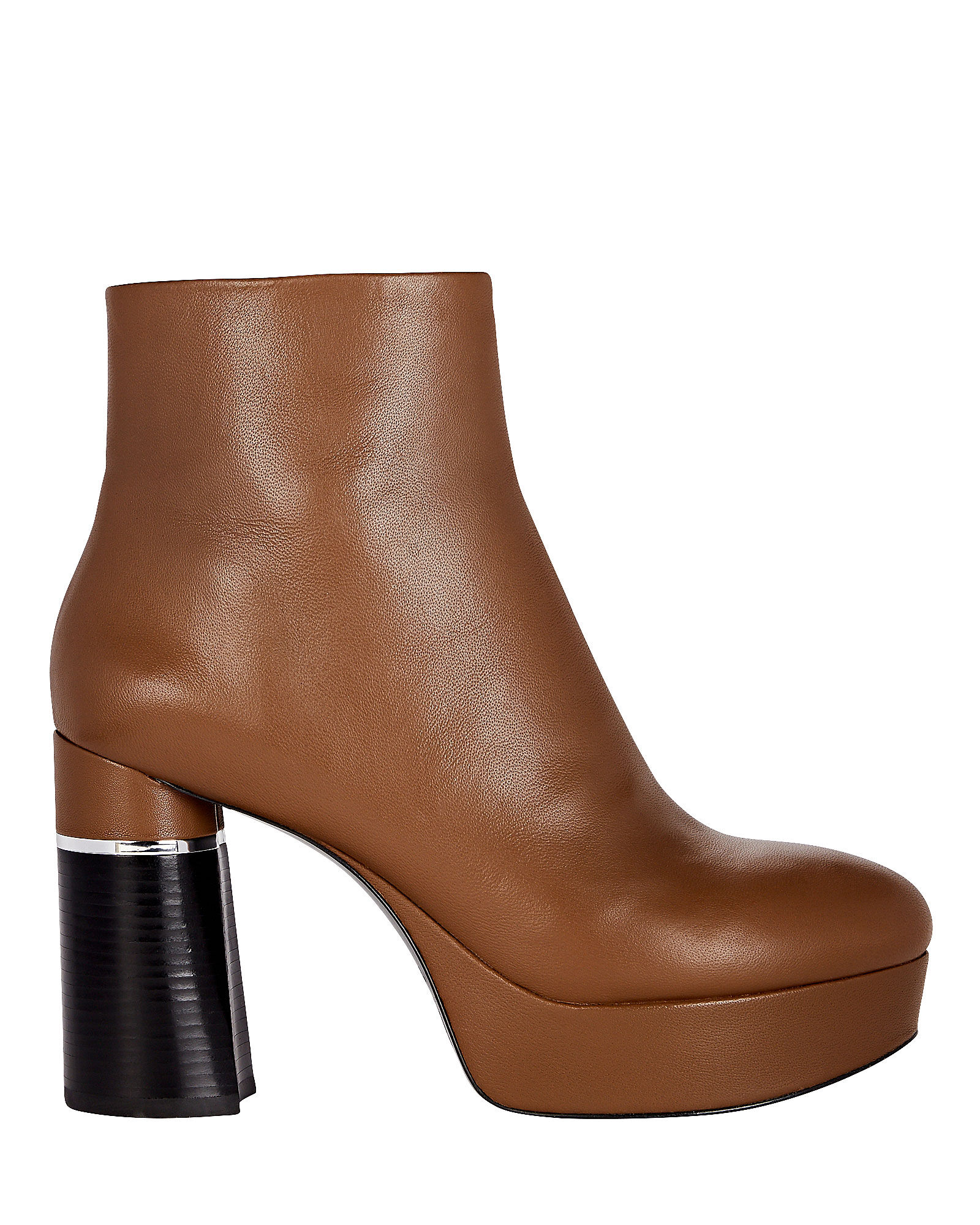 Ziggy Platform Booties, BROWN, hi-res