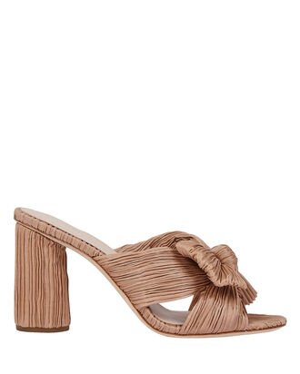 Penny Knotted Slide Sandals, BLUSH, hi-res