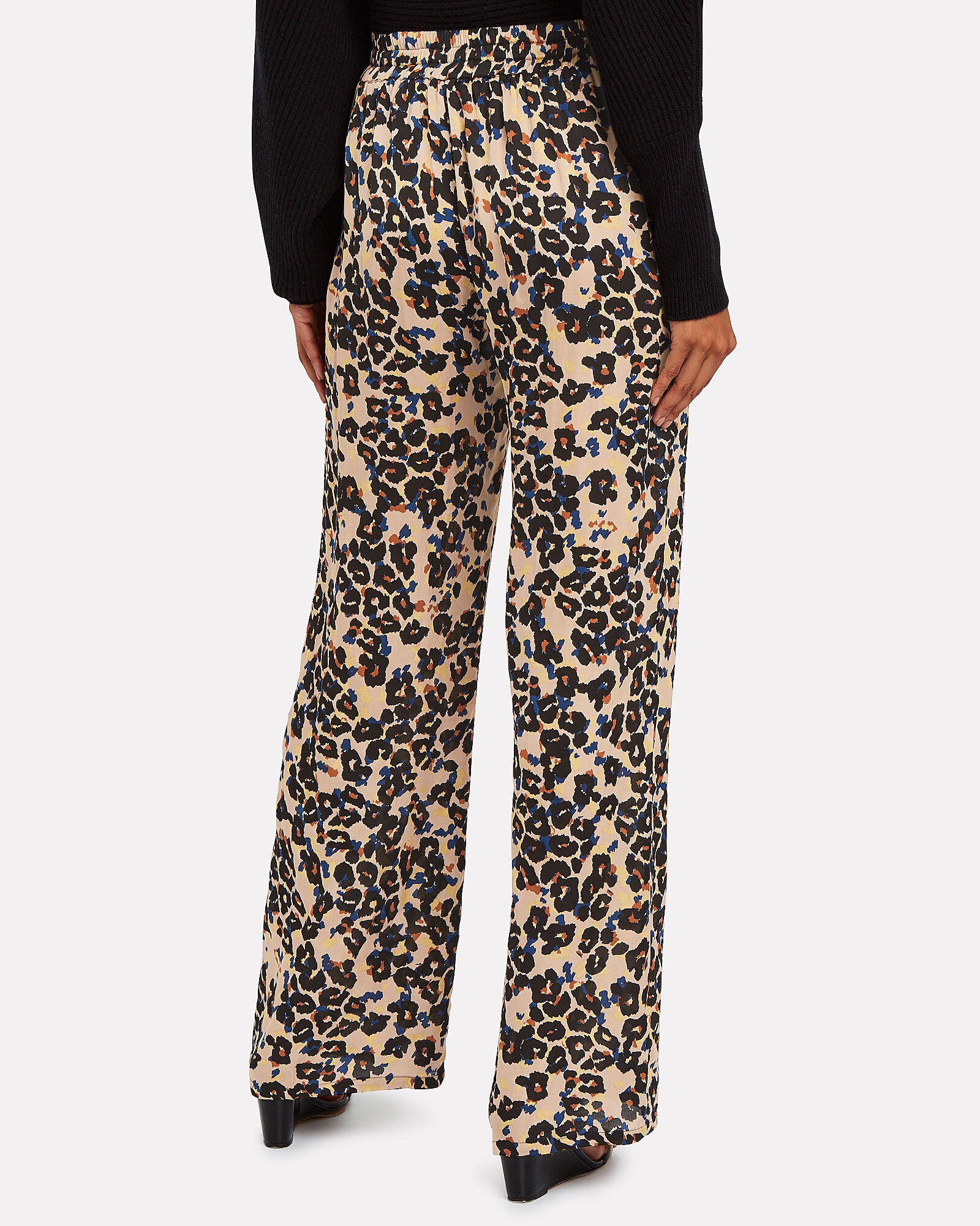 Delirium Leopard Satin Pants, MULTI, hi-res