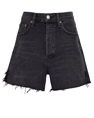 Dee High-Rise Denim Shorts, BLACK DENIM, hi-res