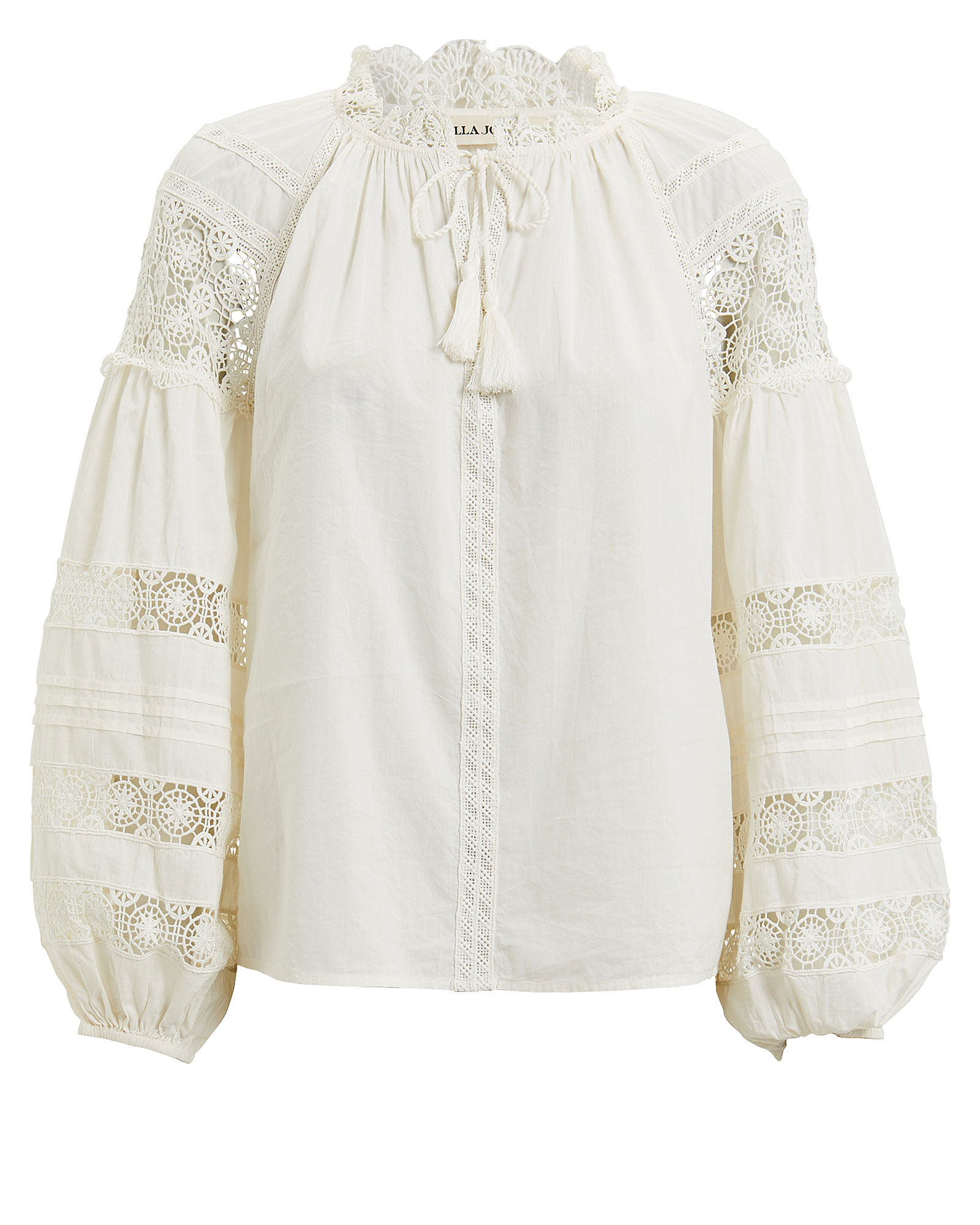 Gemma Cotton Voile Blouse, ALABASTER, hi-res