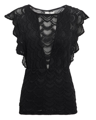 Caletto Lace Top, BLACK, hi-res