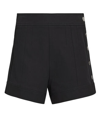 Side Snap Black Shorts, BLACK, hi-res