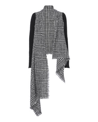 Catrinella Houndstooth Scarf, BLACK/WHITE, hi-res