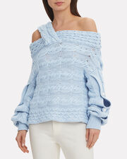 Melody Pearl-Embellished Sweater, ICE BLUE, hi-res
