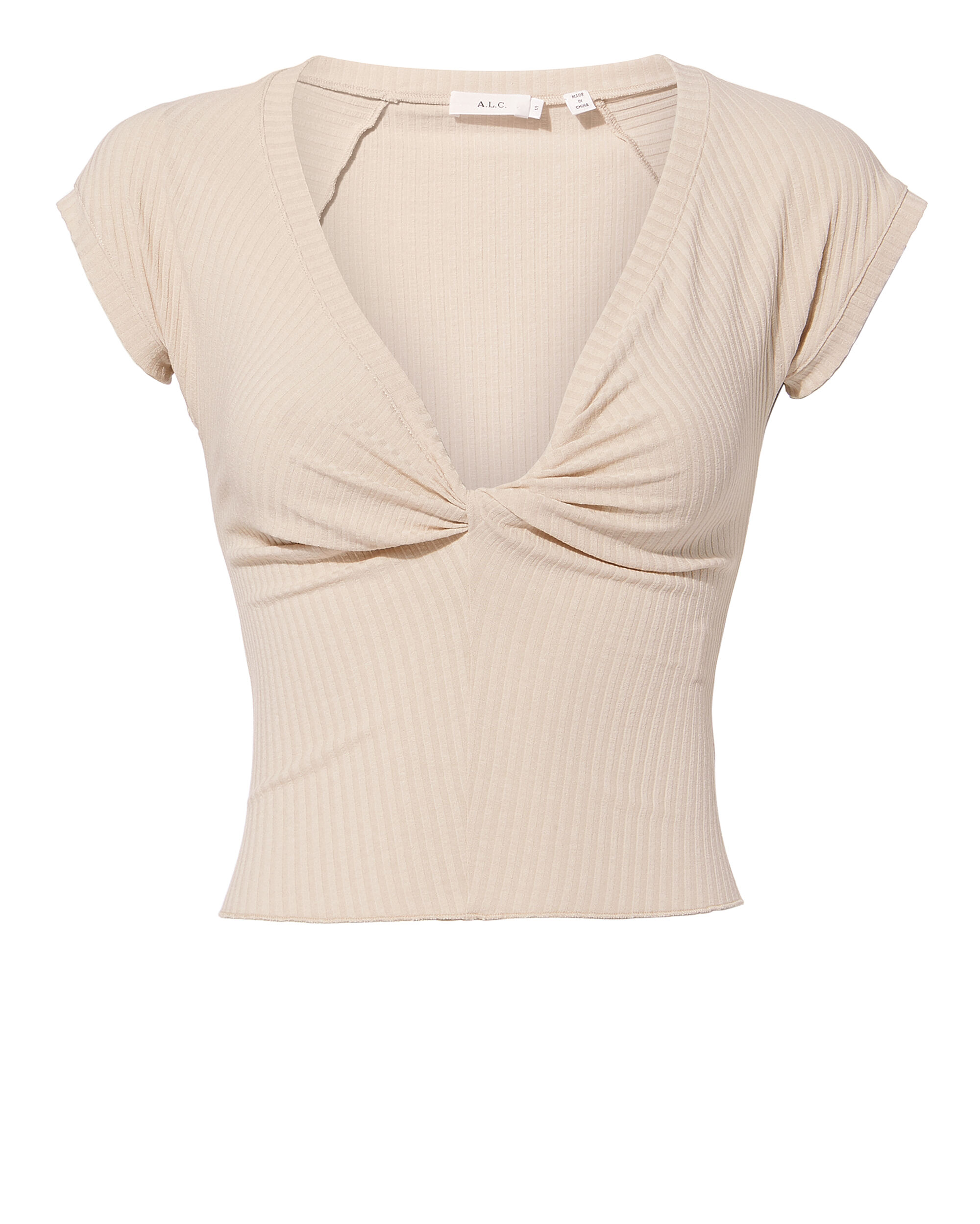 Sabina Twist Front Crop Top, PINK, hi-res