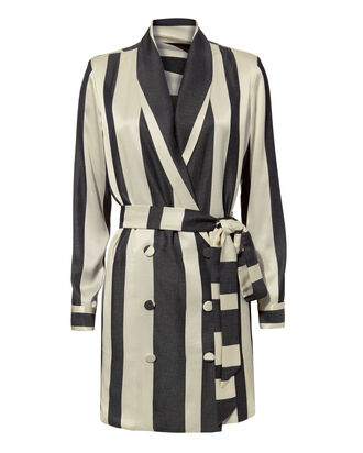 Striped Blazer Dress, BLK/WHT, hi-res