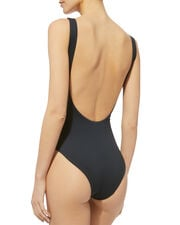 Kelly Golden Pineapple One Piece Swimsuit, BLACK, hi-res