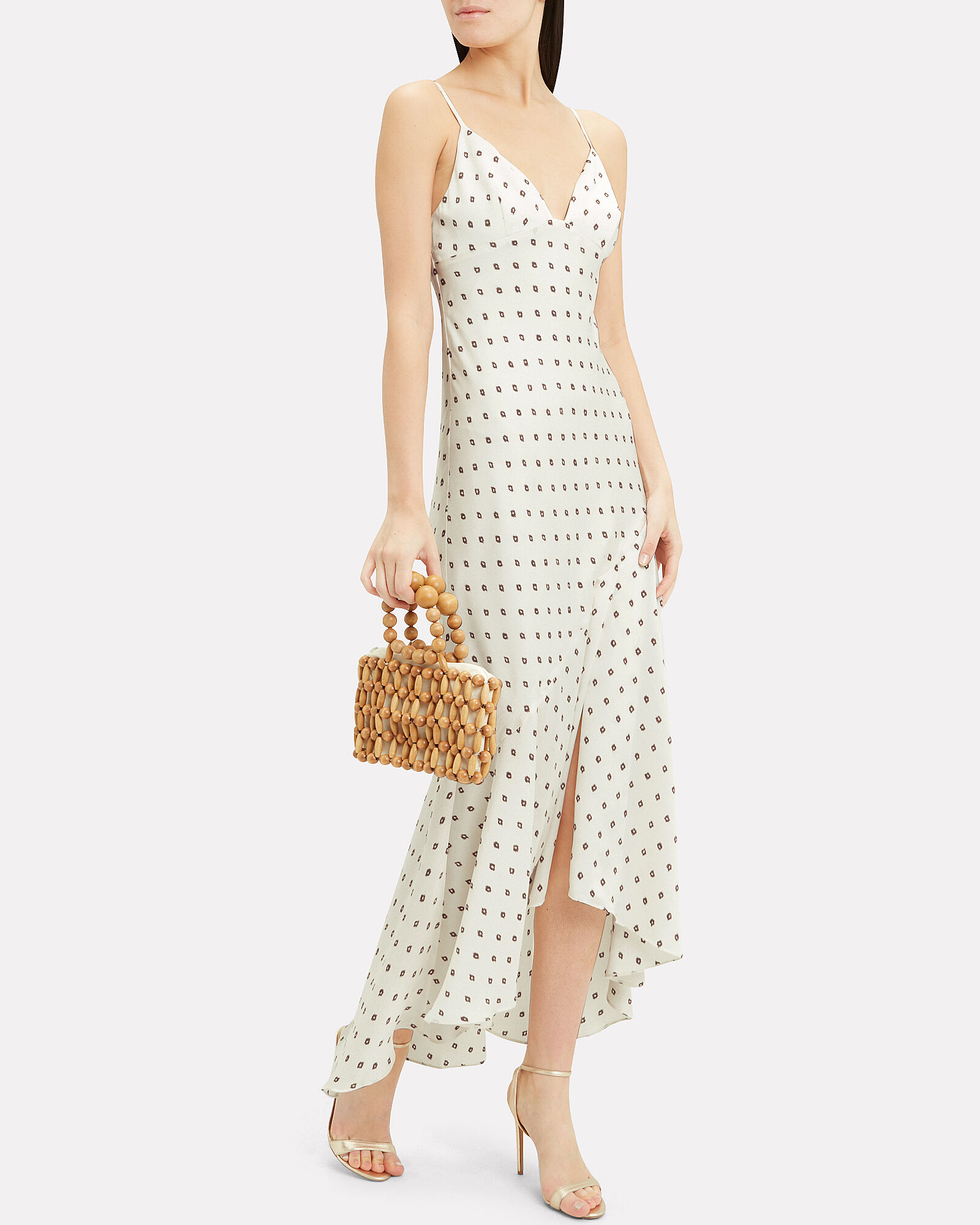Luciana Frill Midi Dress, MULTI, hi-res