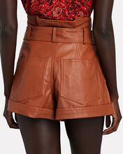 Dixon Leather Paperbag Shorts, BROWN, hi-res