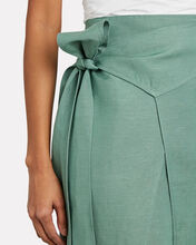 Solace High-Low Wrap Skirt, GREEN, hi-res
