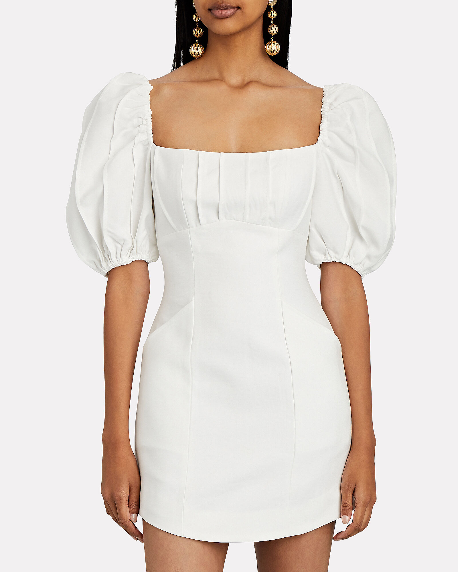 Over Again Puff Sleeve Dress, IVORY, hi-res