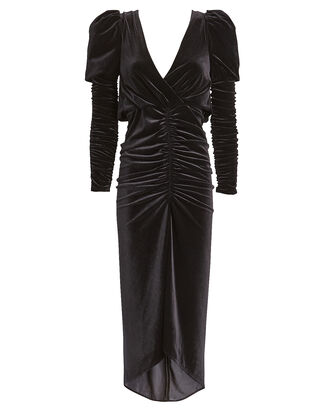 Alicia Velvet Midi Dress, BLACK, hi-res