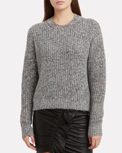 Rosa Marled Wool-Blend Sweater, GREY, hi-res