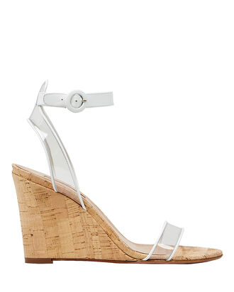 PVC Minimalist Wedges, CLEAR/WHITE/BEIGE, hi-res