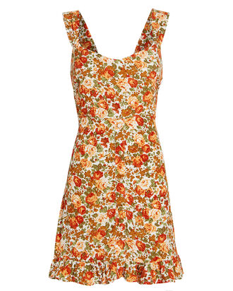 Lou Lou Floral Mini Dress, APRICOT/FLORAL, hi-res
