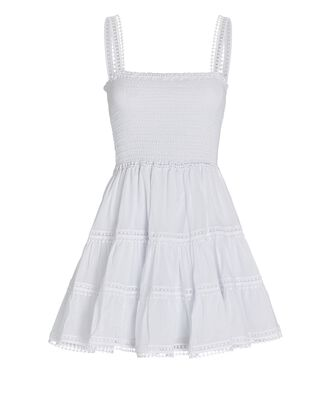 Stelle Tiered Mini Dress, WHITE, hi-res