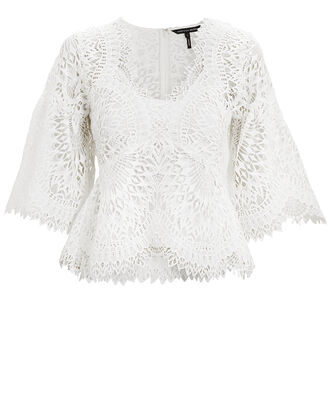 Rowan White Lace Top, WHITE, hi-res