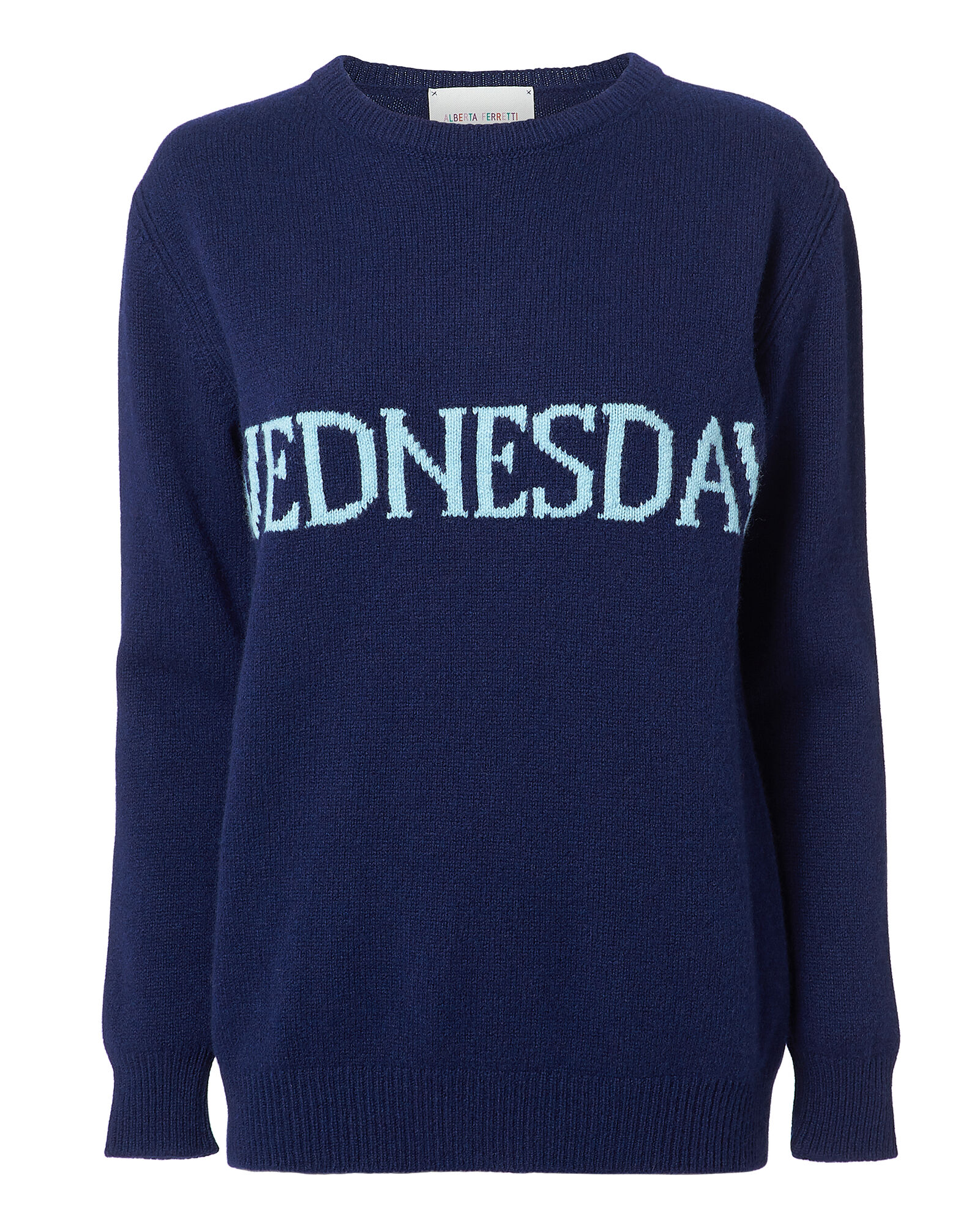 Wednesday Cashmere Sweater, NAVY, hi-res